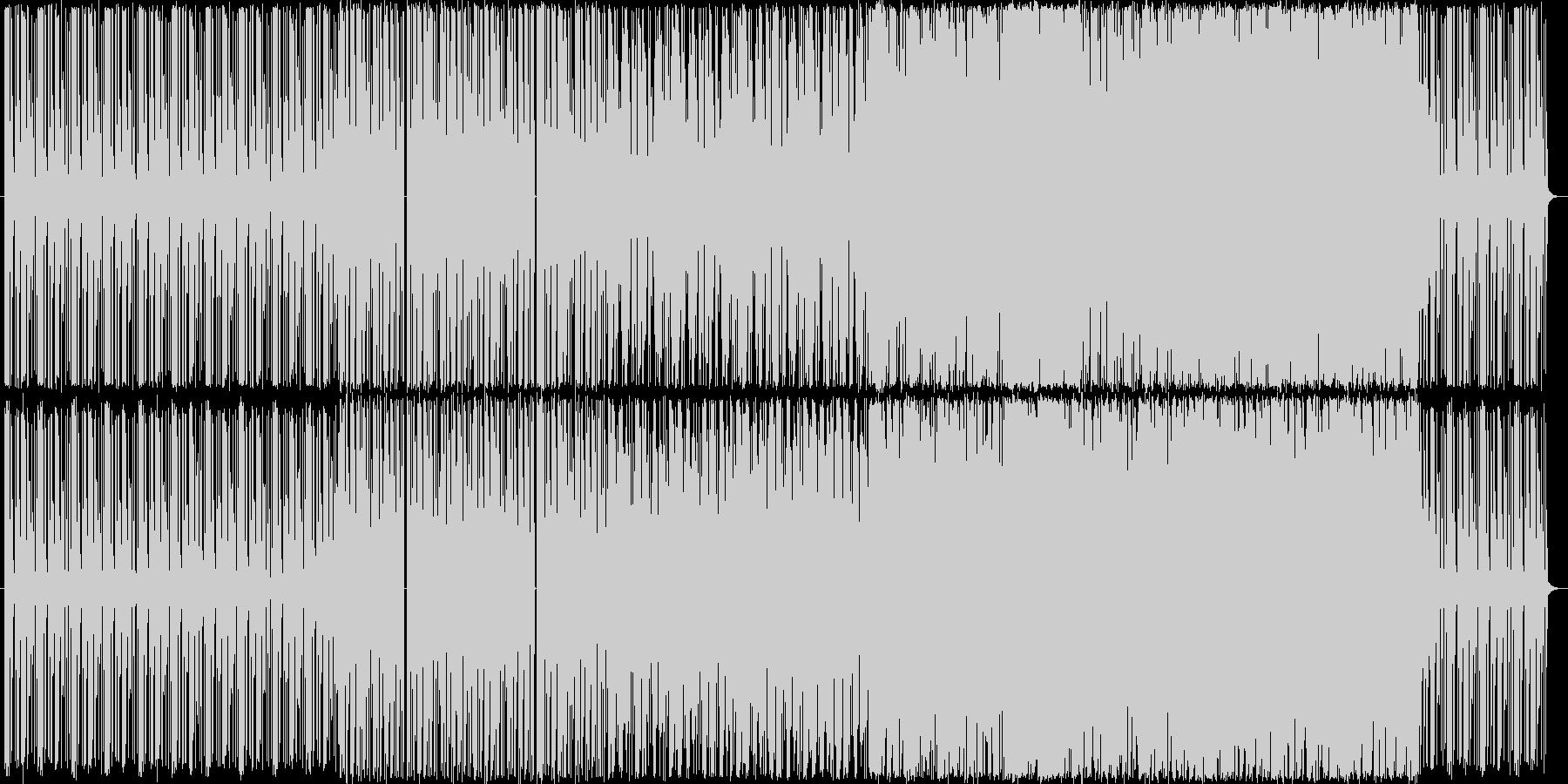 ピアノとドラムを主体とした綺麗なテクノの未再生の波形