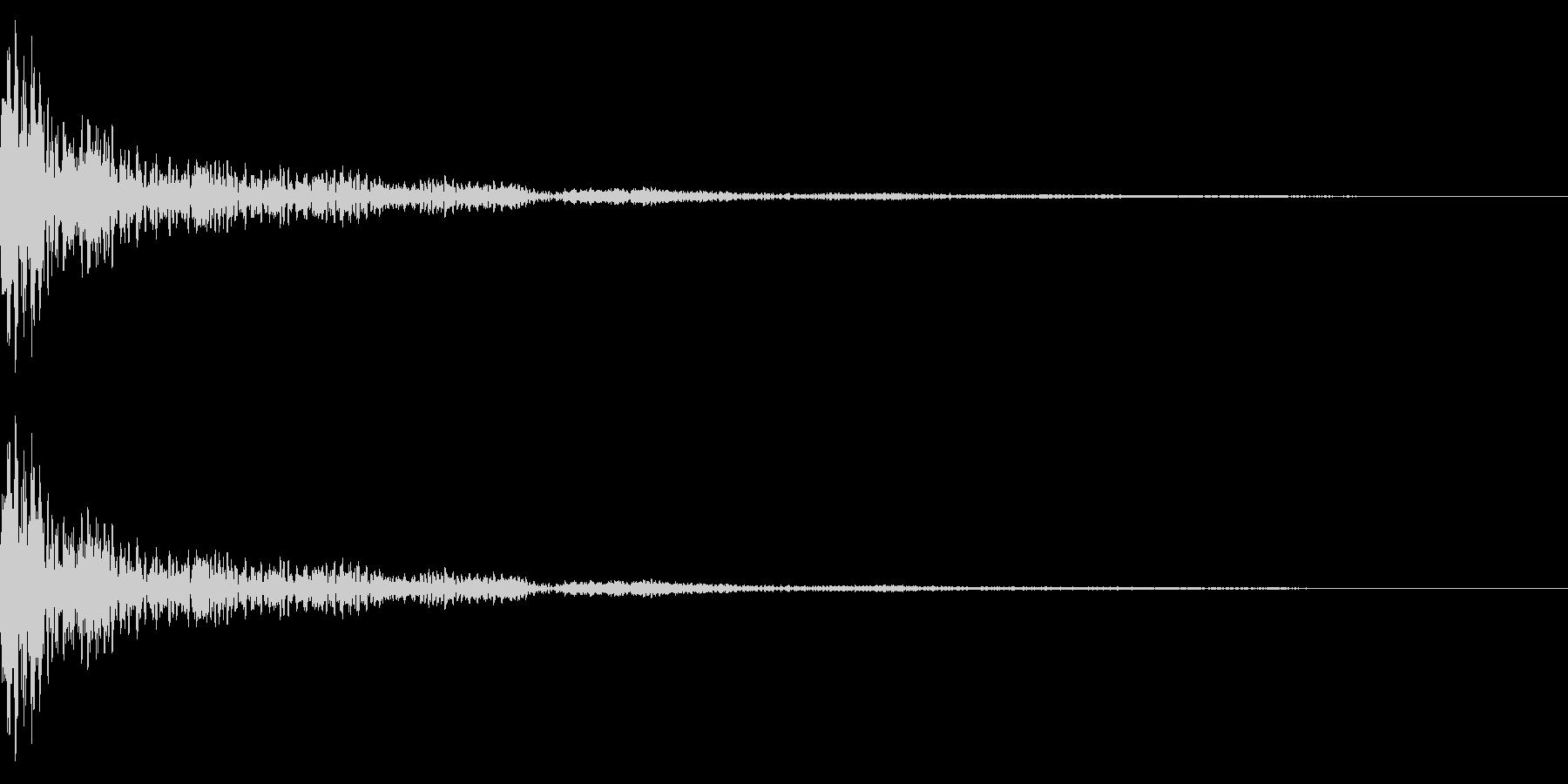 ホラー系アタック音34の未再生の波形