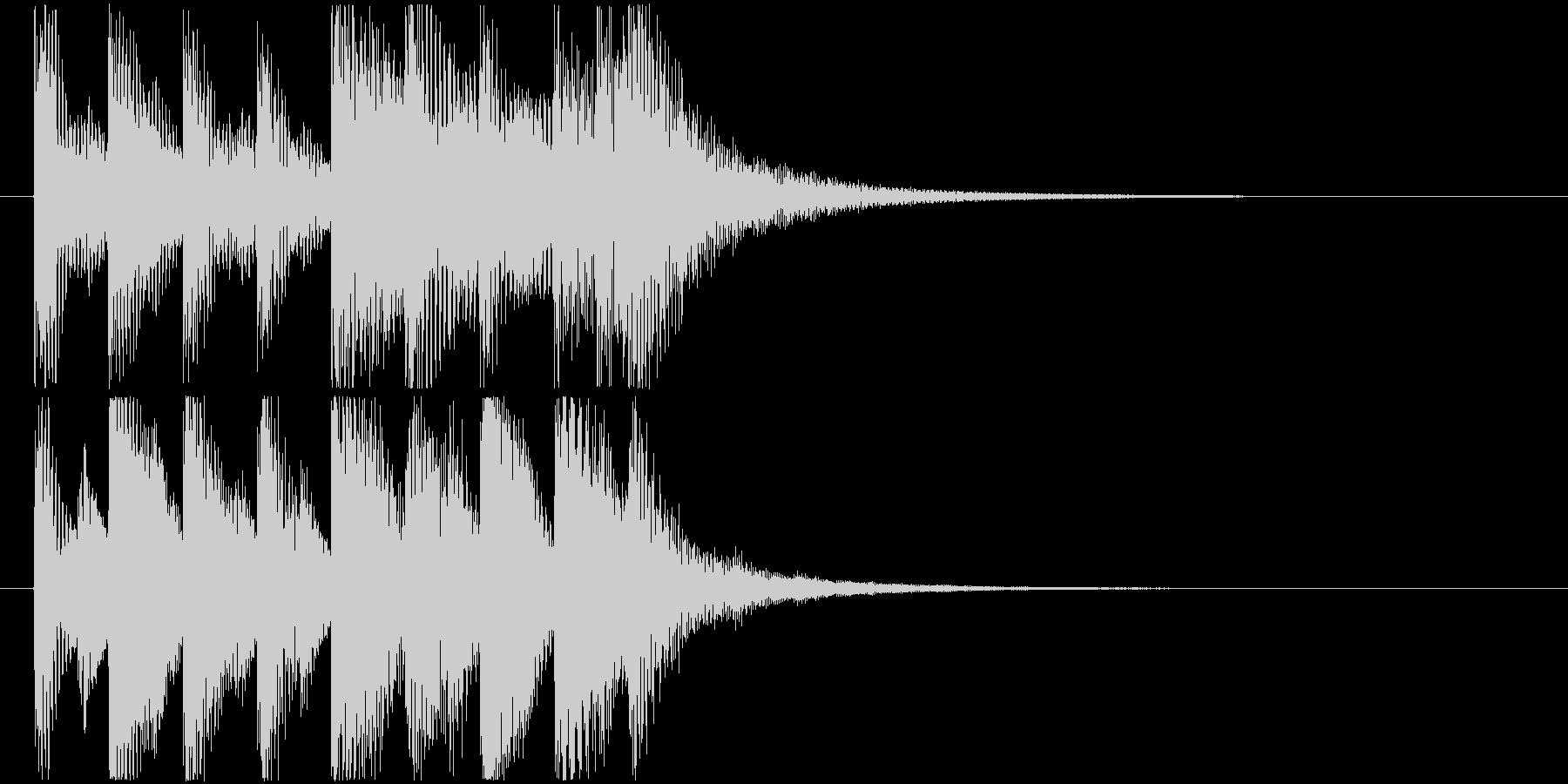 ほのぼのとした雰囲気のジングル3の未再生の波形