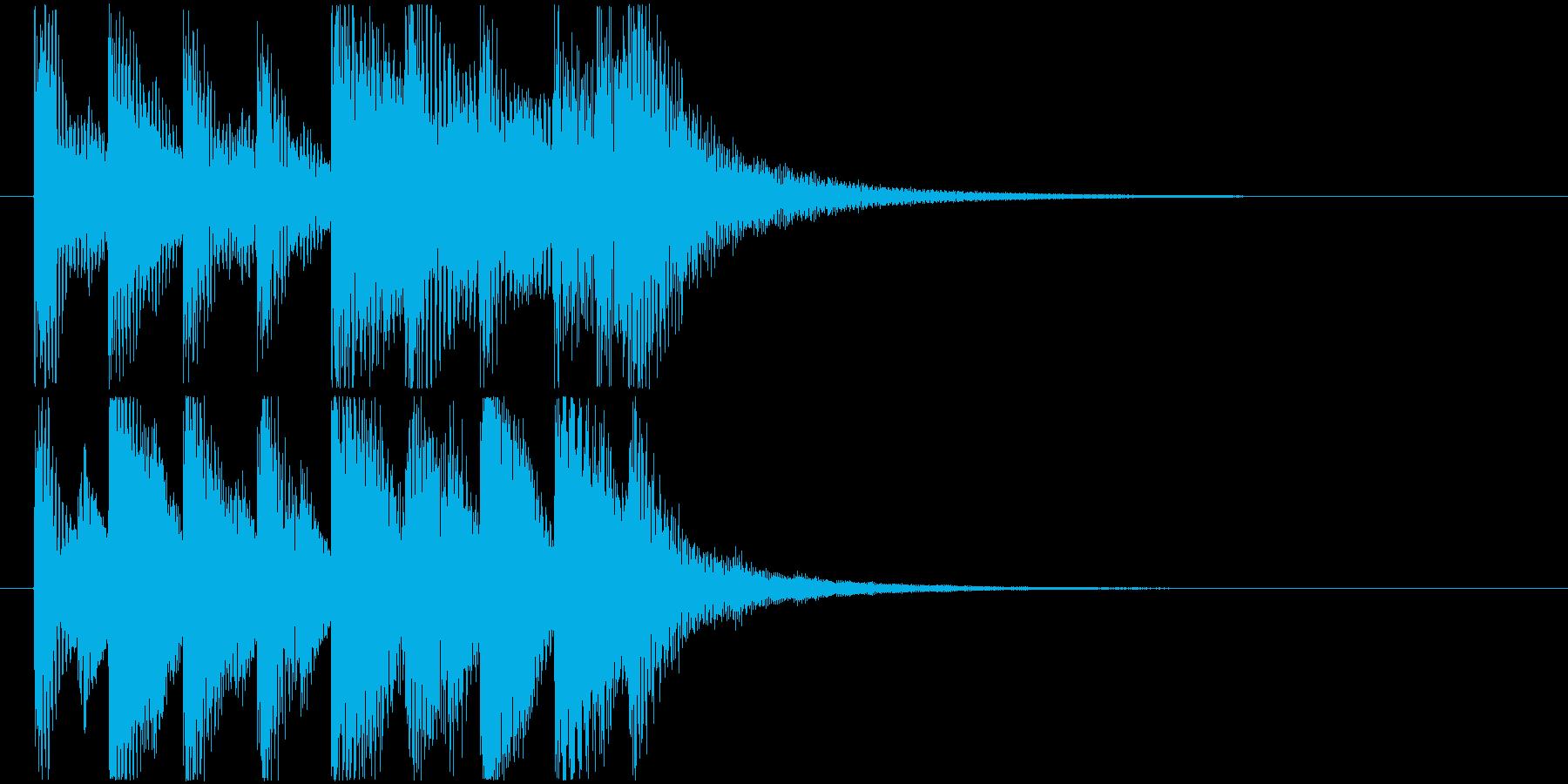 ほのぼのとした雰囲気のジングル3の再生済みの波形