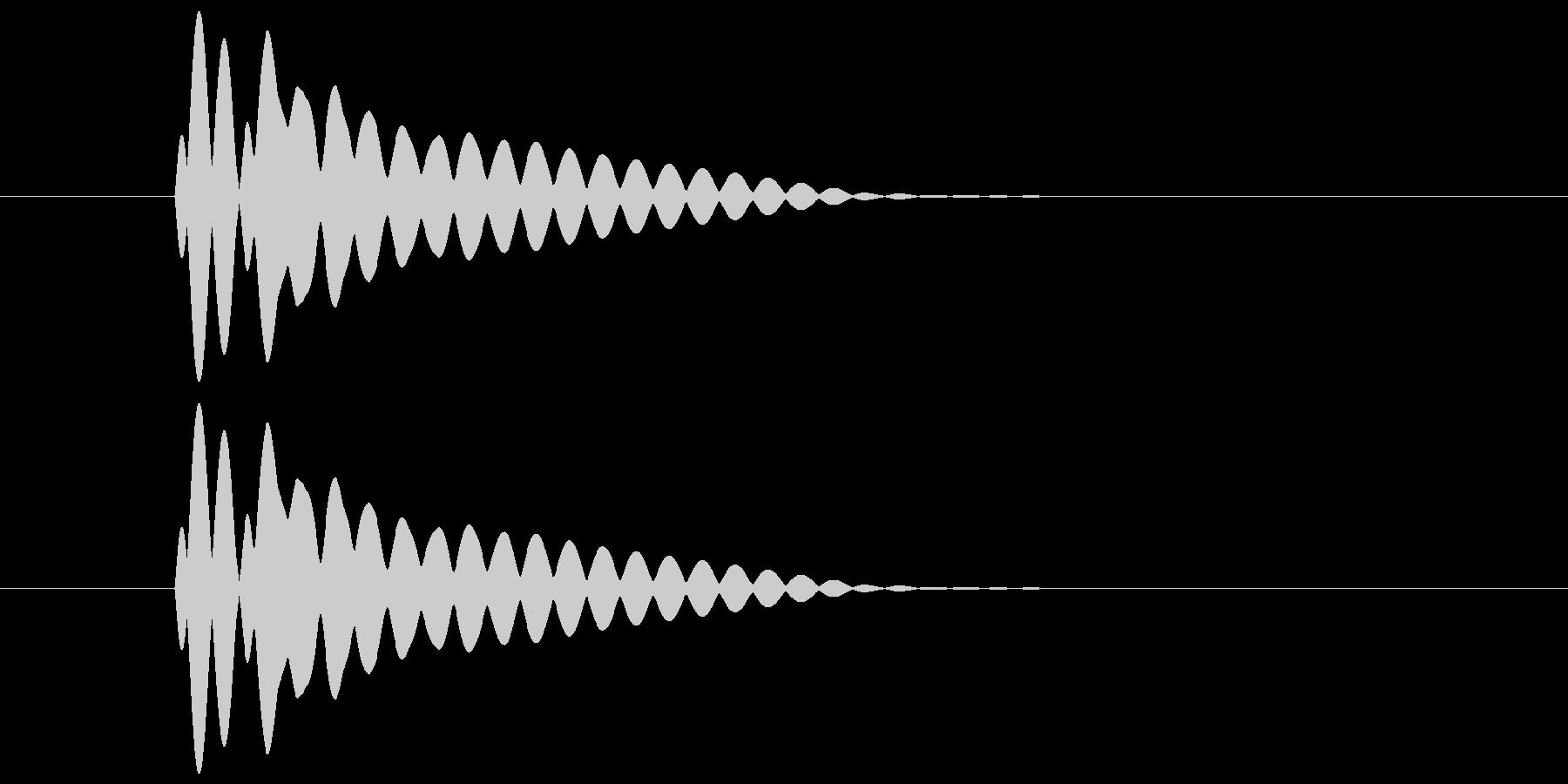 ピコーン(透明感と余韻のある音) 01の未再生の波形