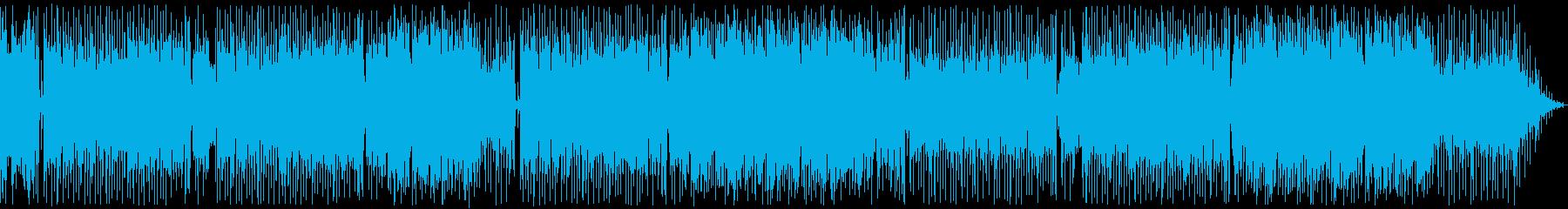 レトロな雰囲気のファンクポップの再生済みの波形