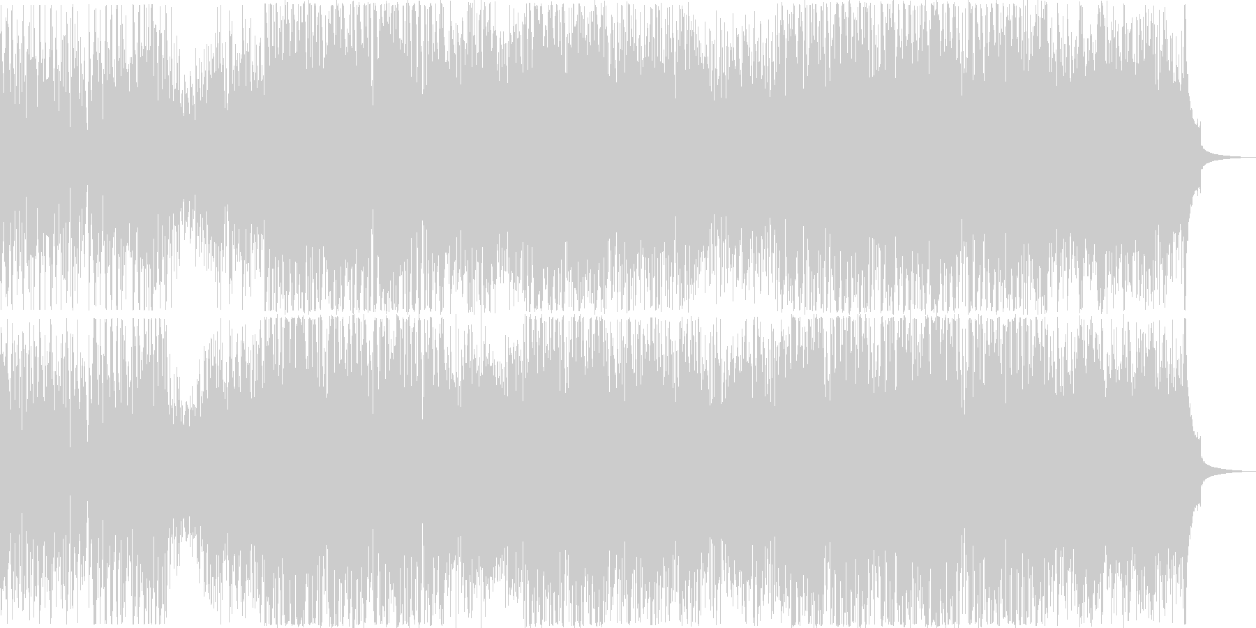 マグマが吹き出すイメージの未再生の波形