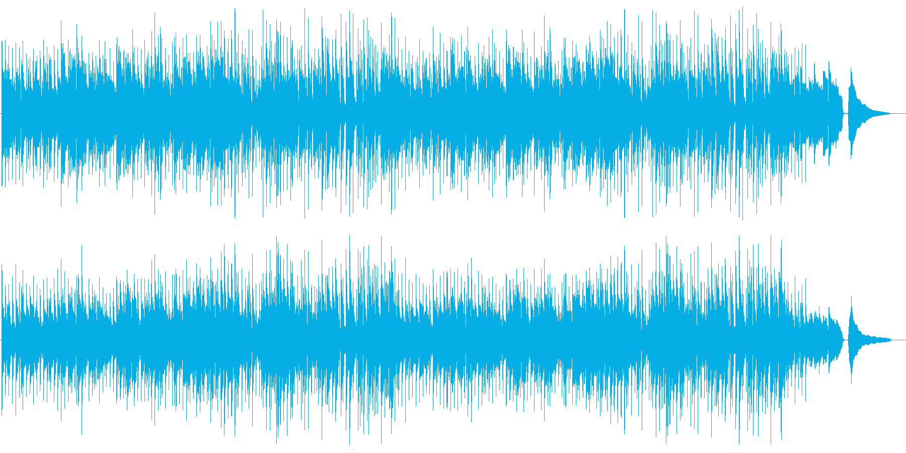 ほのぼのした雰囲気のポップスの再生済みの波形