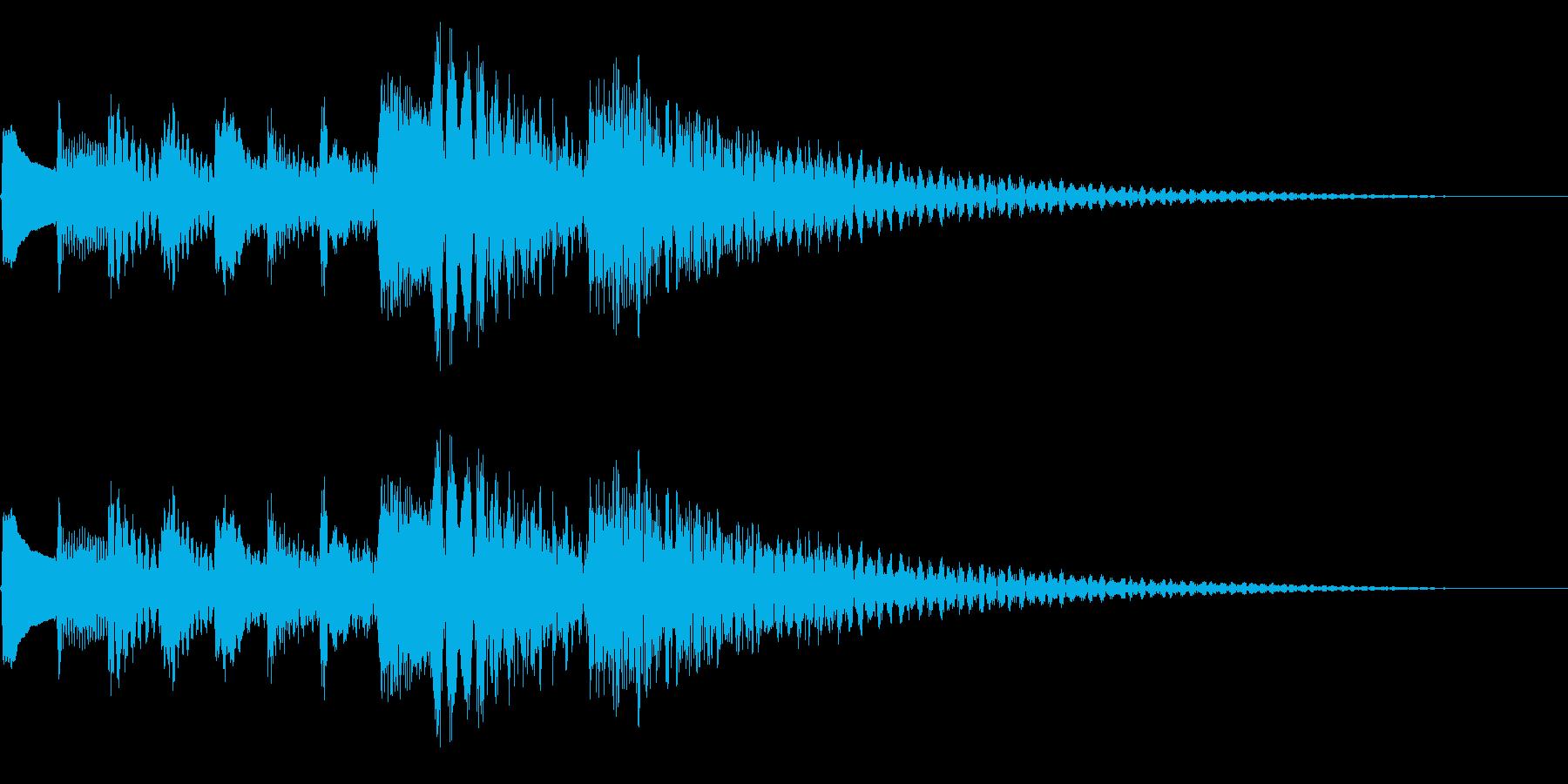 テレレレレン↓ 琴 下降の再生済みの波形