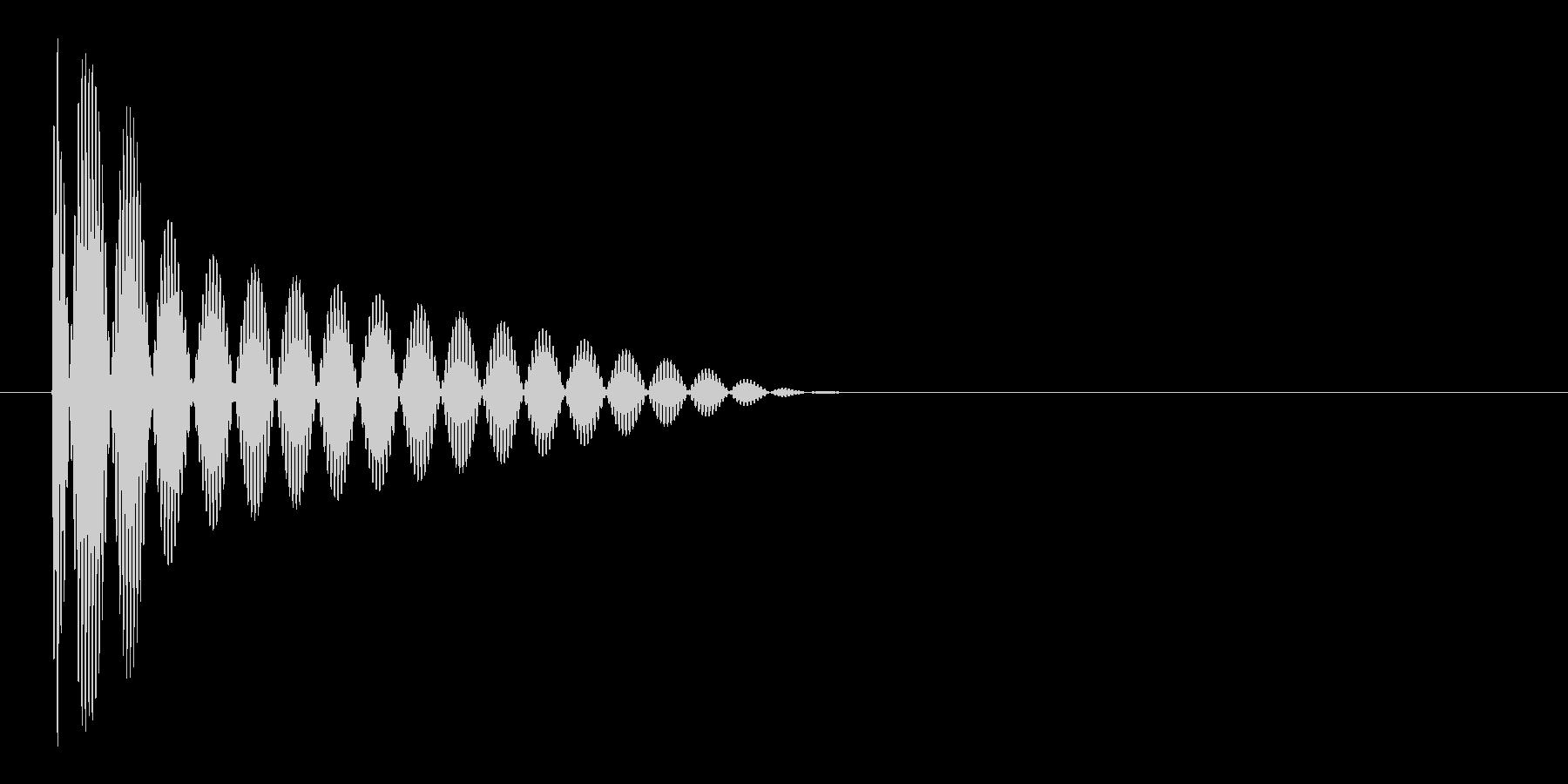 ブー(ビープ音)の未再生の波形