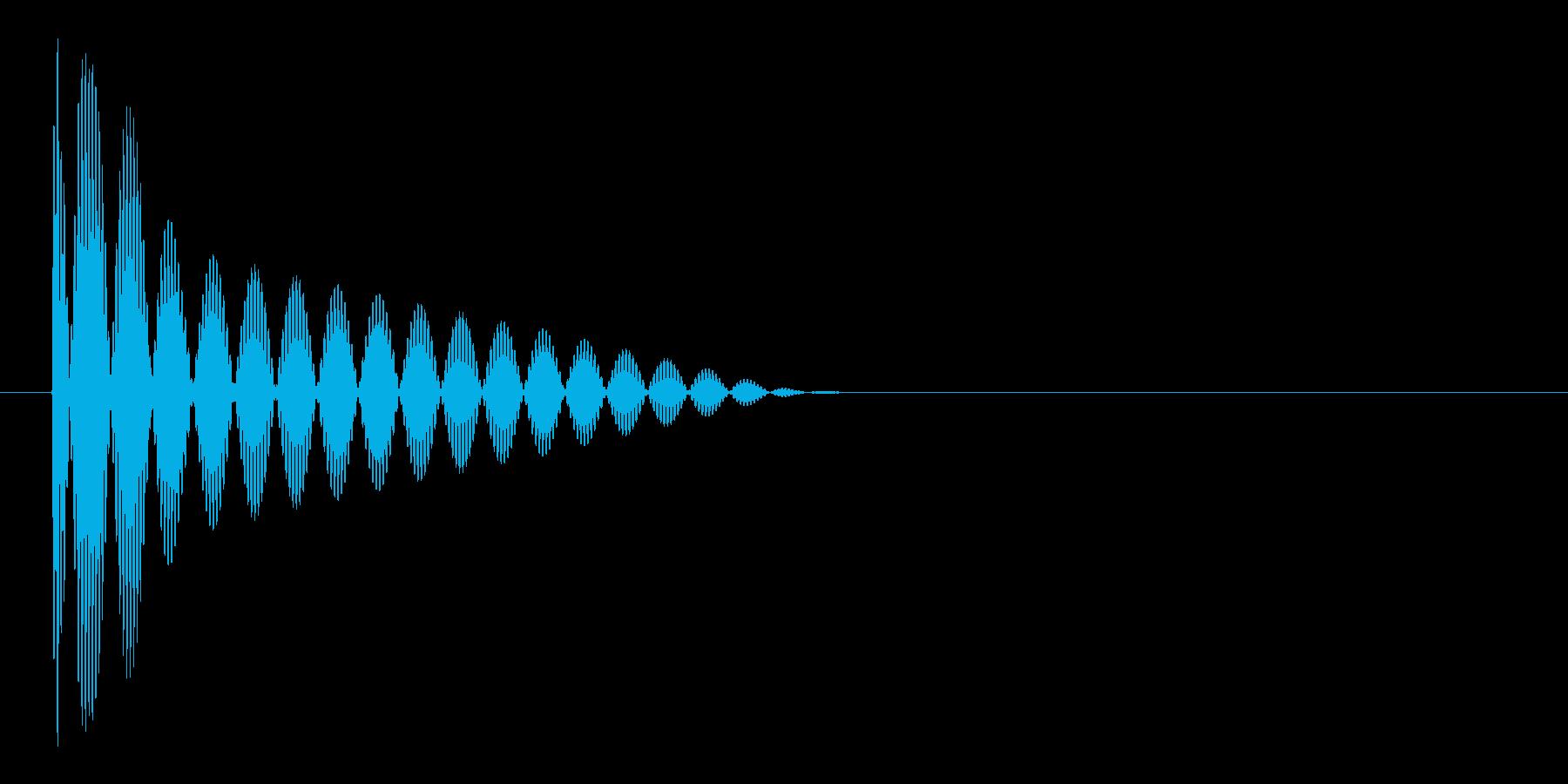 ブー(ビープ音)の再生済みの波形