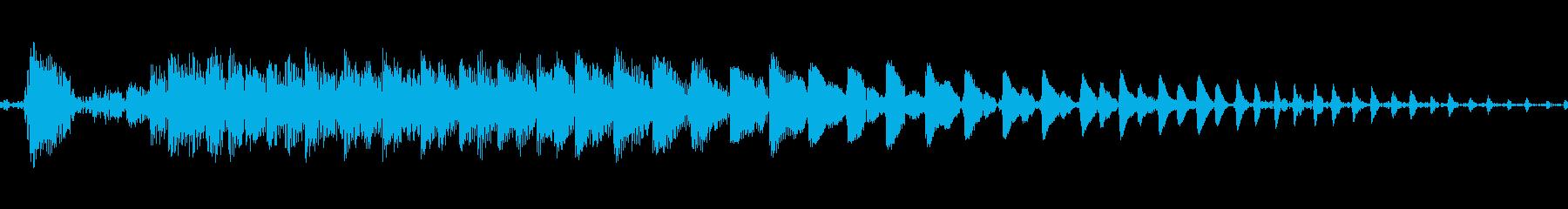ポイ〜ン♪コミカルで可愛いジャンプ音03の再生済みの波形