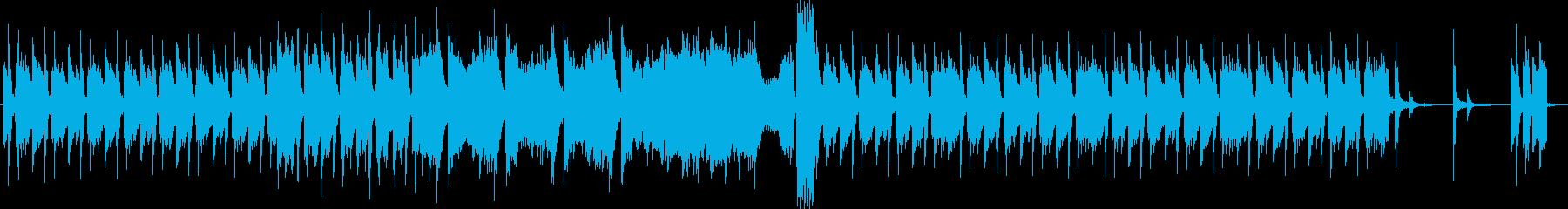 緊張感のあるジャジーな無機質ピアノBGMの再生済みの波形