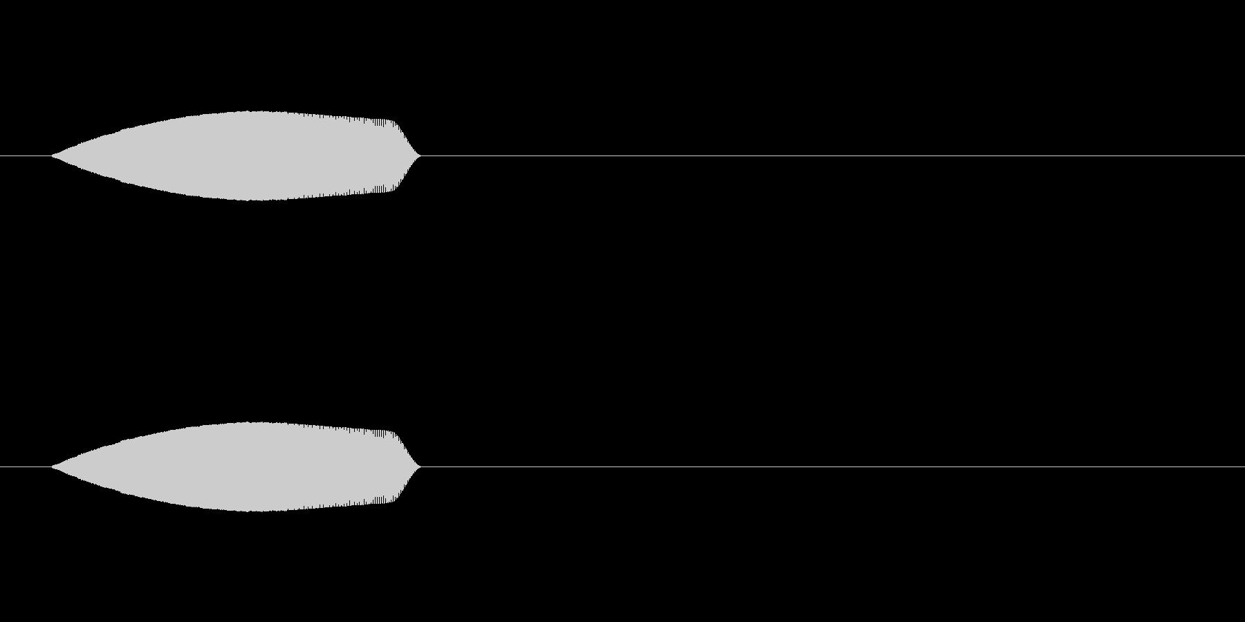 ぴよっ↓(回避音、キャンセル音)の未再生の波形