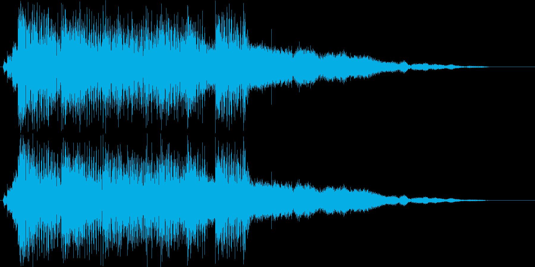 きらびやかジングルの再生済みの波形