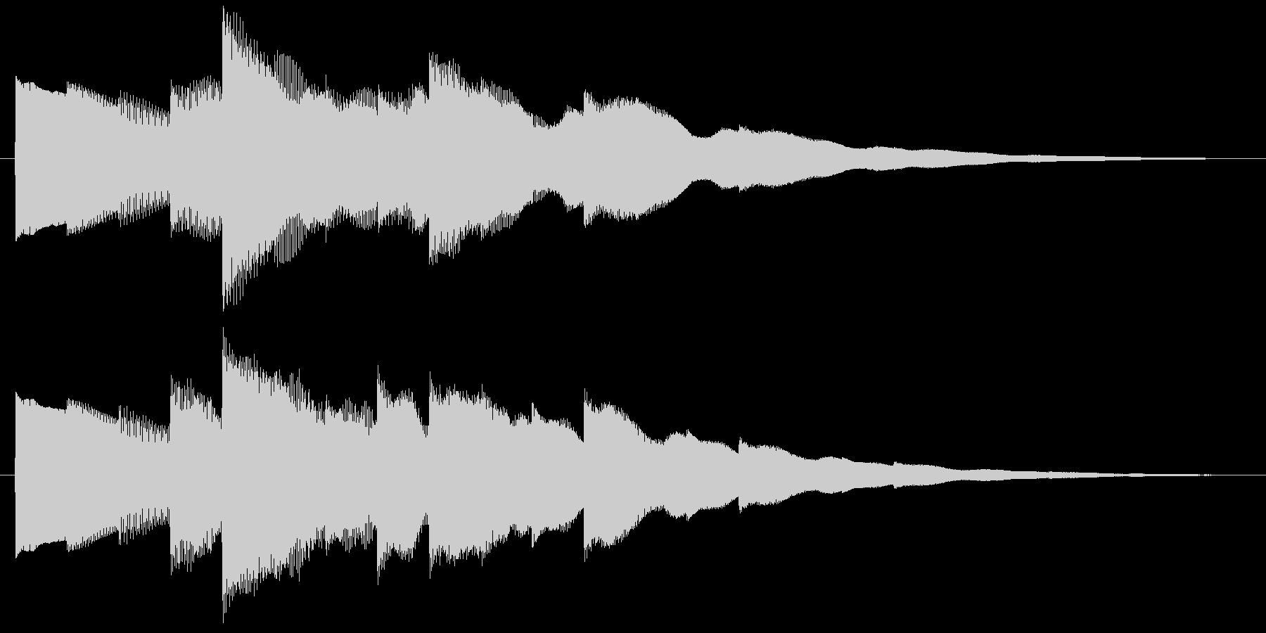 ベルの静かな場面転回音2の未再生の波形