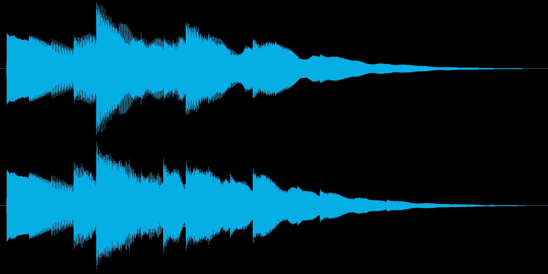 ベルの静かな場面転回音2の再生済みの波形