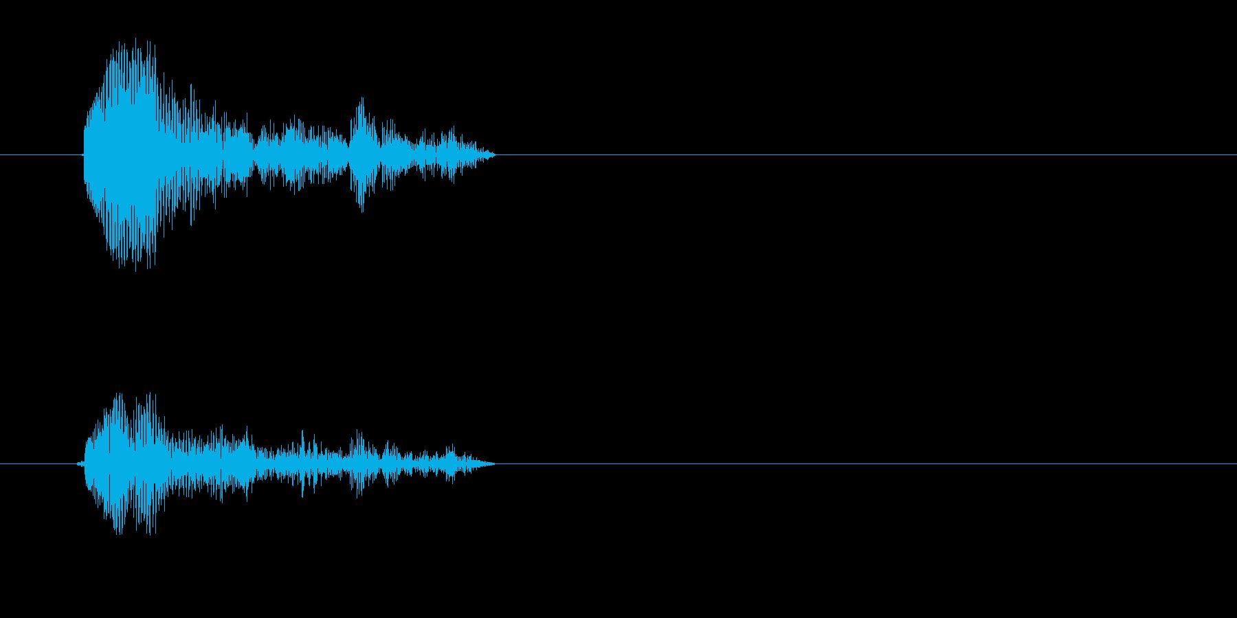 カッという短い効果音の再生済みの波形