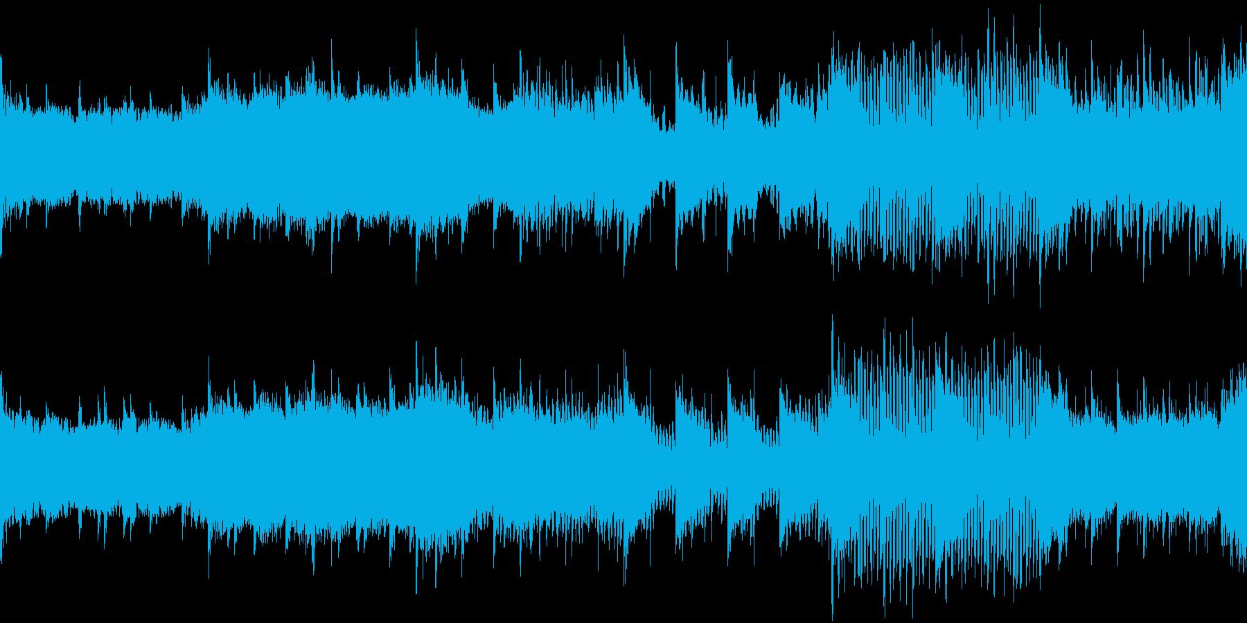 緊張感・不安感のあるサイケ系ループ素材の再生済みの波形