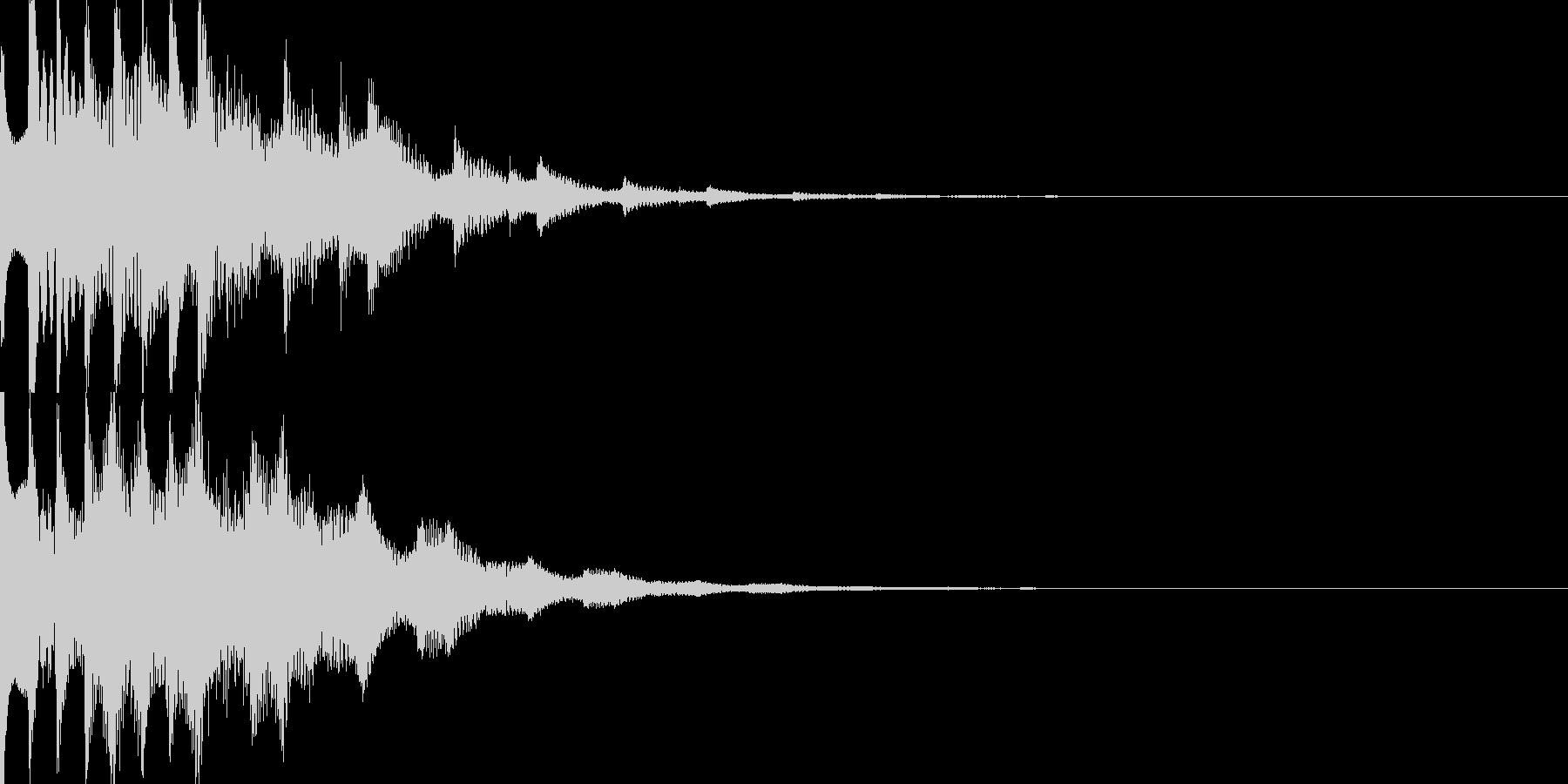スタート音09の未再生の波形