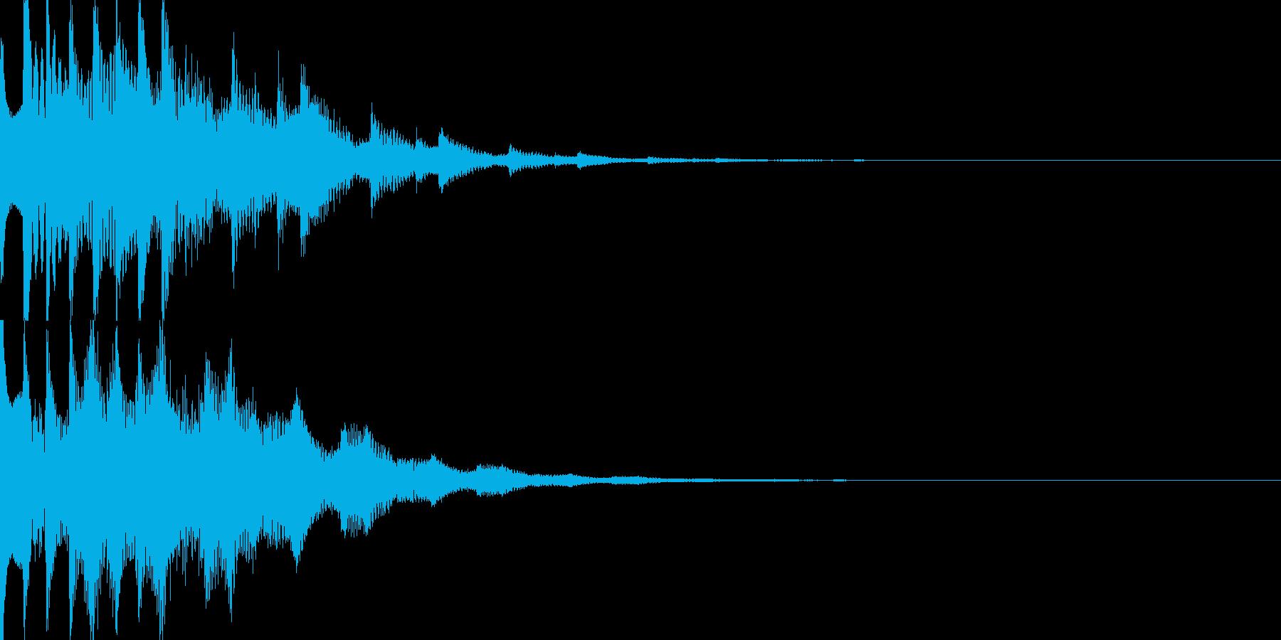 スタート音09の再生済みの波形