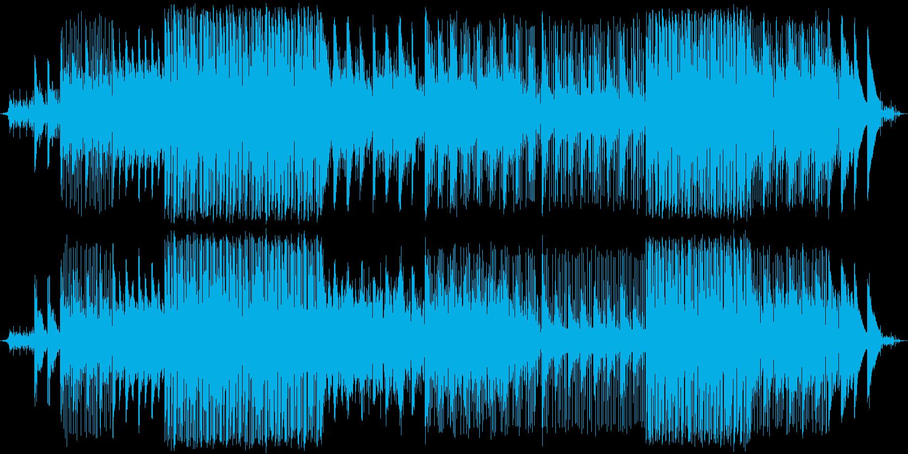 アンビエントな曲です。青色や緑色、山と…の再生済みの波形