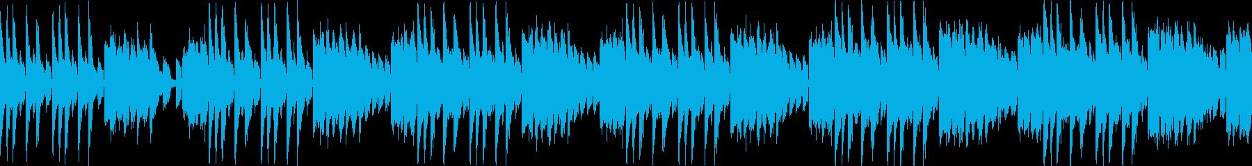 空を駆け巡るみたいな曲(ループ仕様)の再生済みの波形