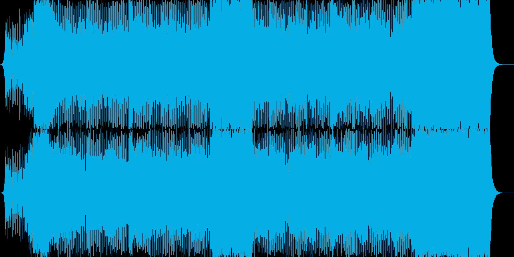 走るシーンをイメージしたロック風の曲の再生済みの波形
