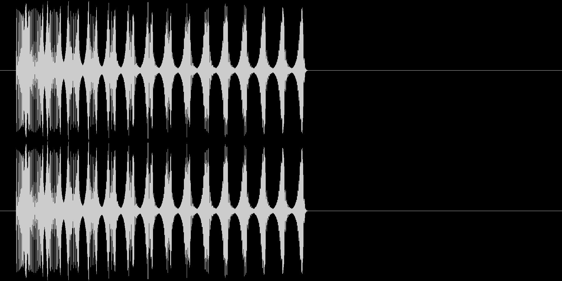 ビヨーン(撃沈の音)の未再生の波形