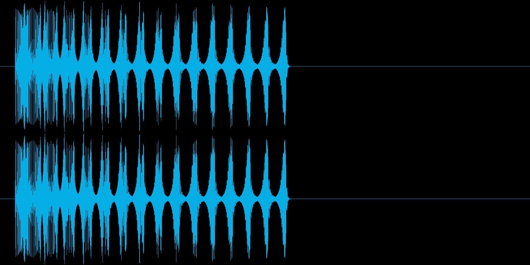 ビヨーン(撃沈の音)の再生済みの波形