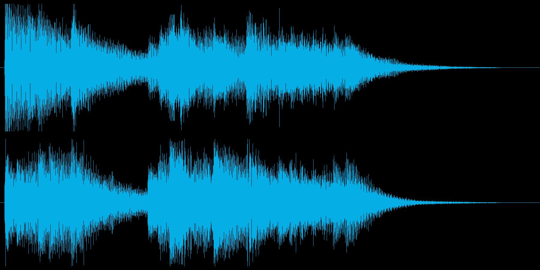 始まりを感じさせるピアノのジングルの再生済みの波形