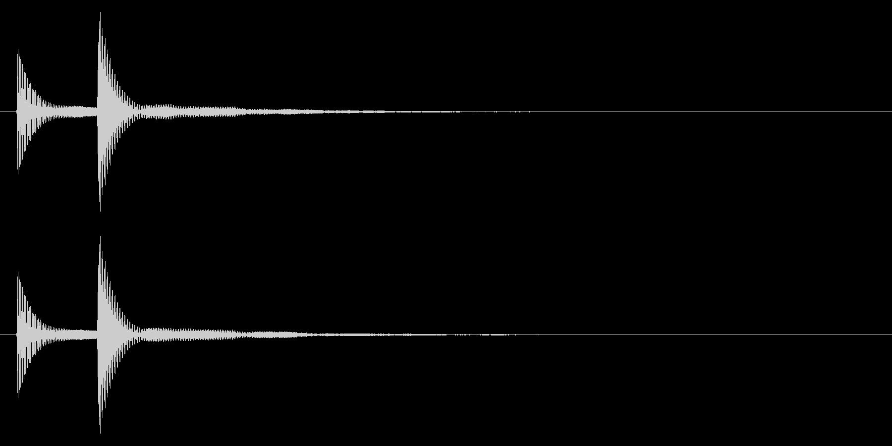 ピコッ↓/木琴/かわいいの未再生の波形