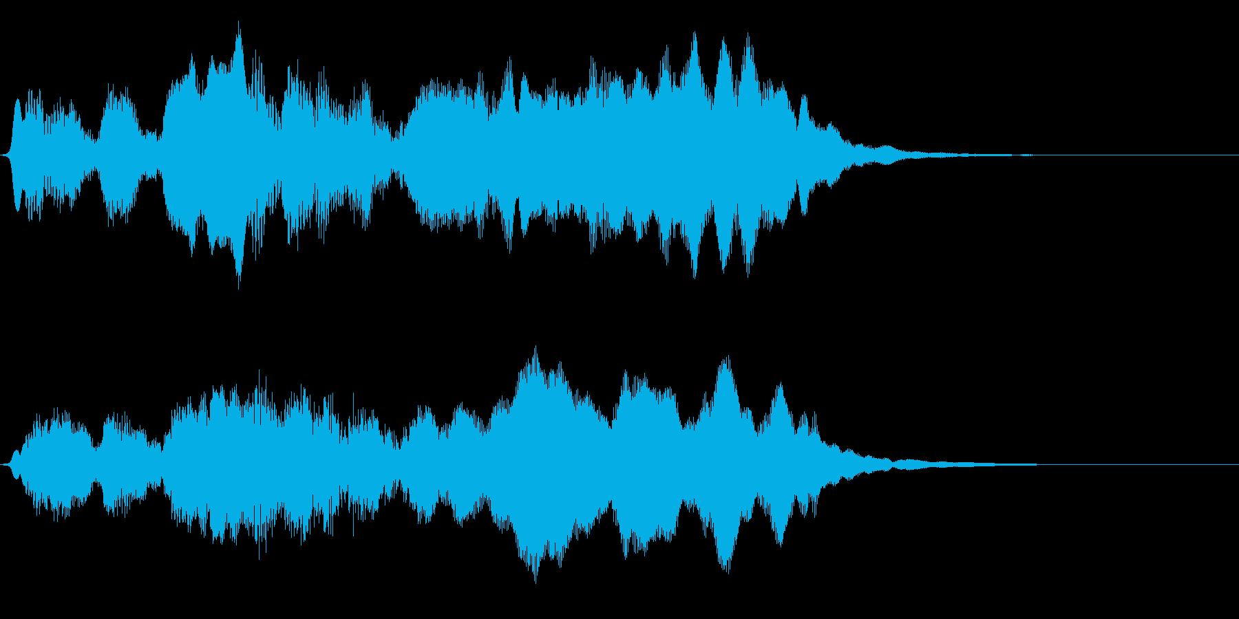 フルートの明るいジングル・場面転換2の再生済みの波形