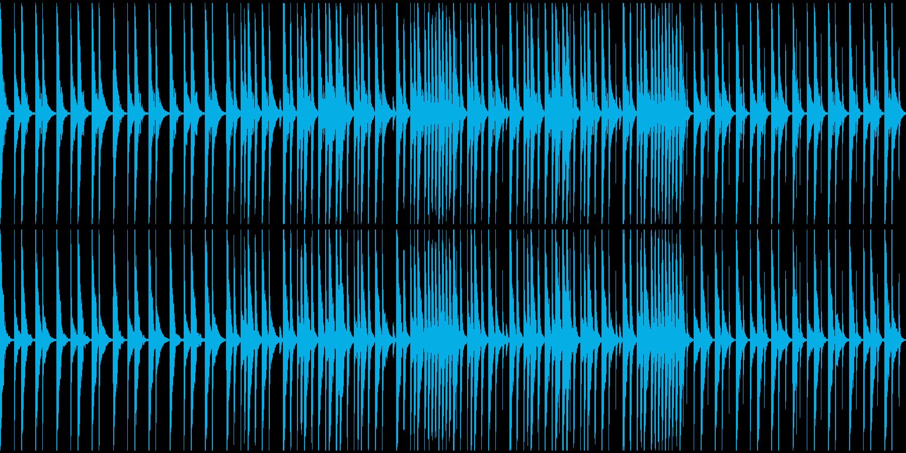 P〇AP、R〇ZAP風のドラムループの再生済みの波形