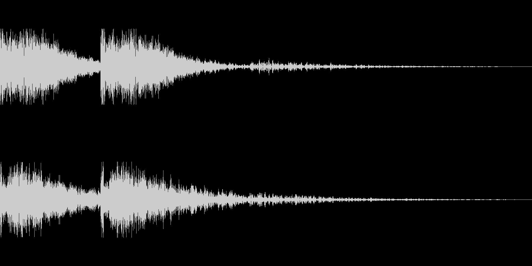 採掘をイメージした効果音の未再生の波形