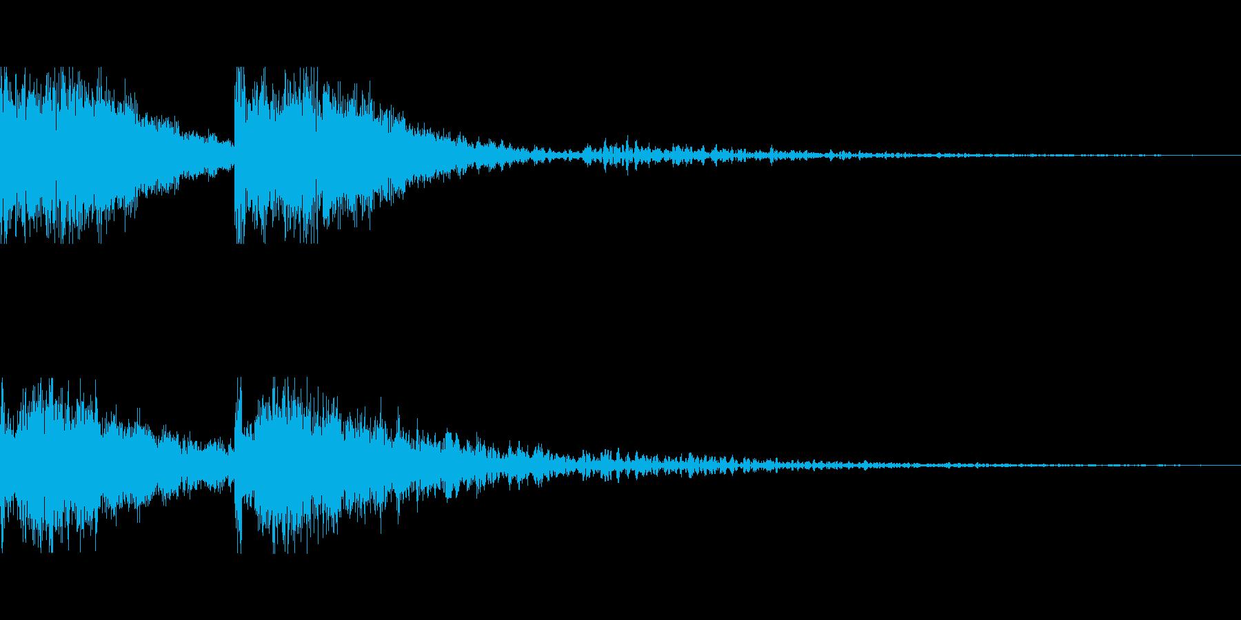 採掘をイメージした効果音の再生済みの波形