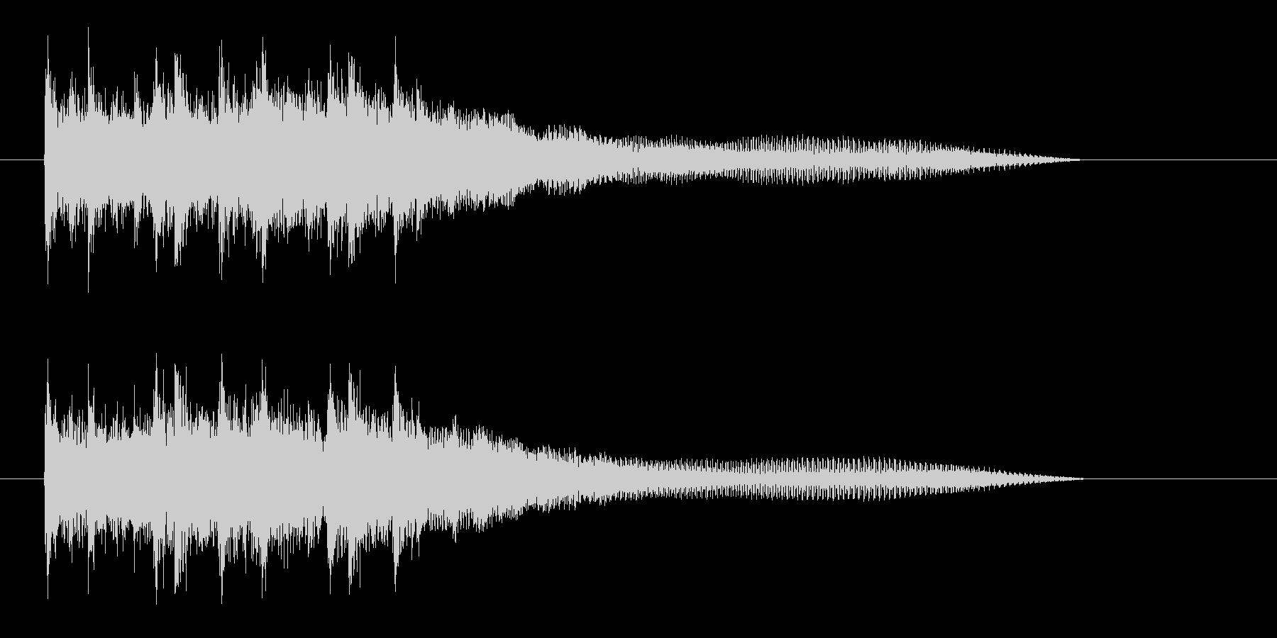 明るい未来を期待できるミュージックの未再生の波形