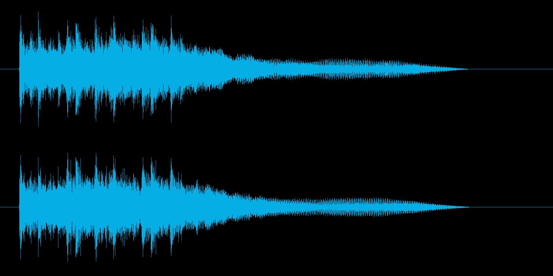明るい未来を期待できるミュージックの再生済みの波形