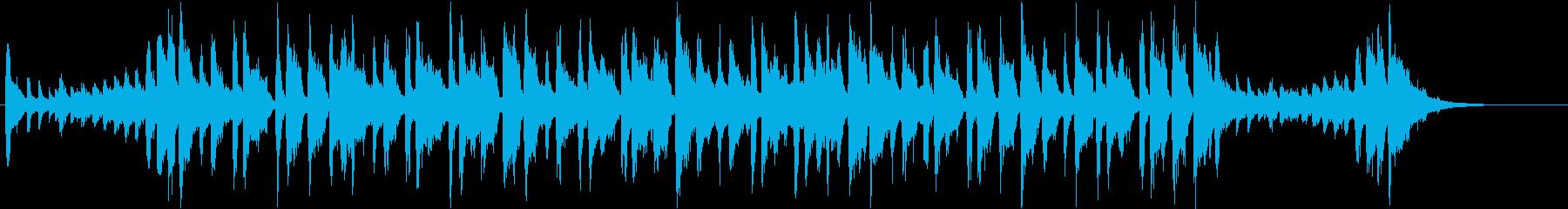 コミカルなロックブルース調ポップチューンの再生済みの波形