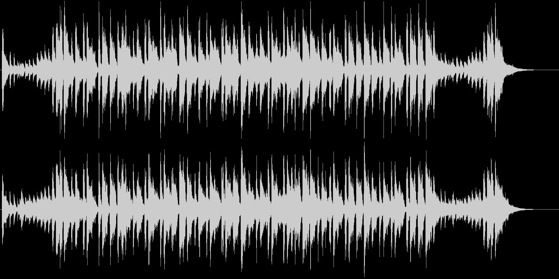 コミカルなロックブルース調ポップチューンの未再生の波形