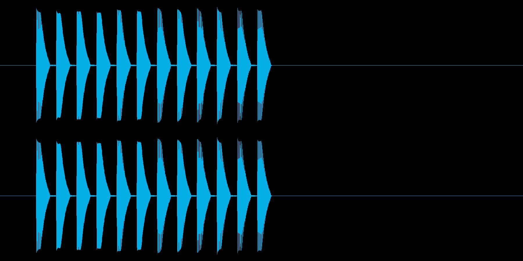 アーケード アクション01-5(ミス)の再生済みの波形