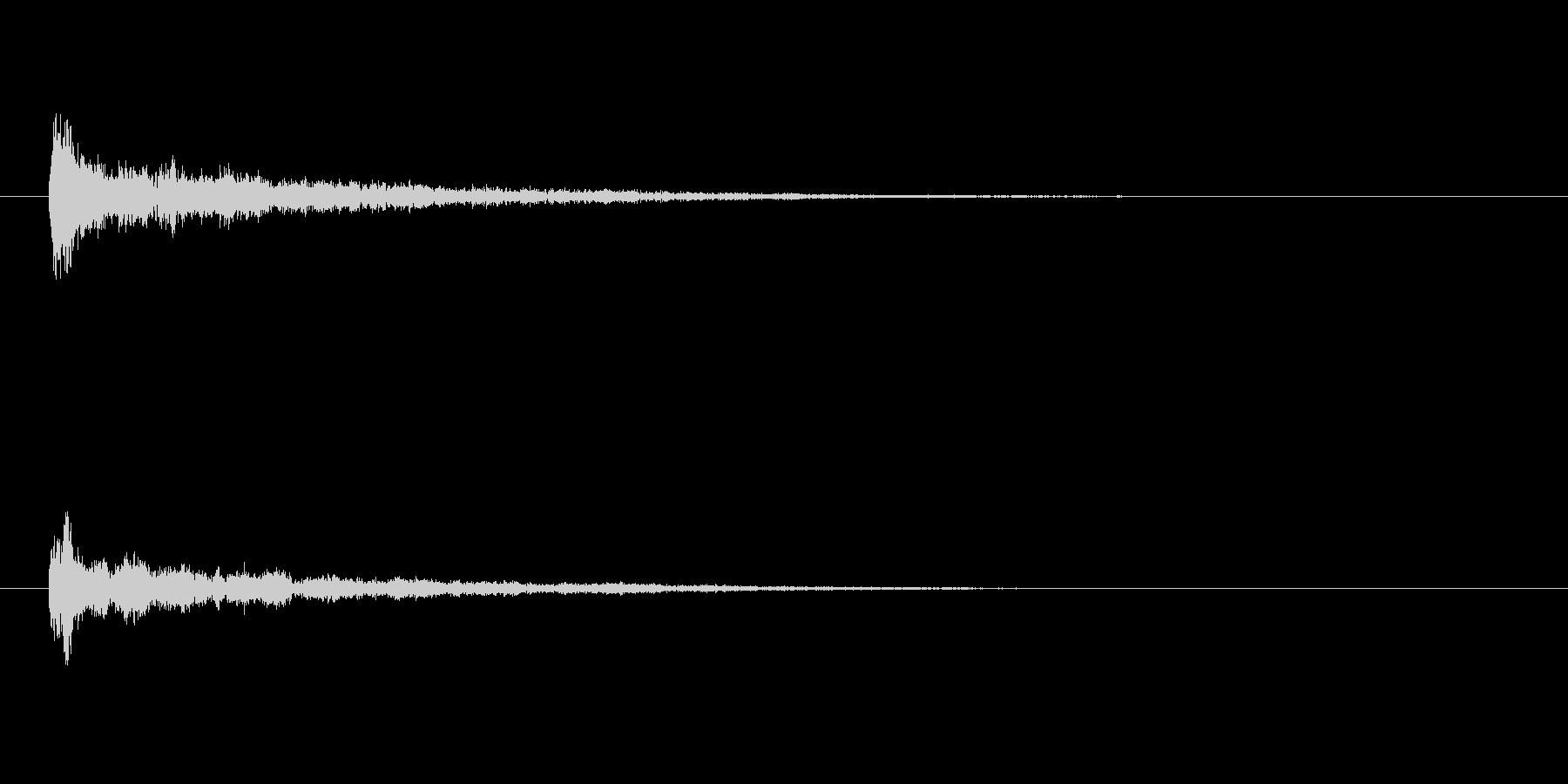 キーン(決定音)の未再生の波形