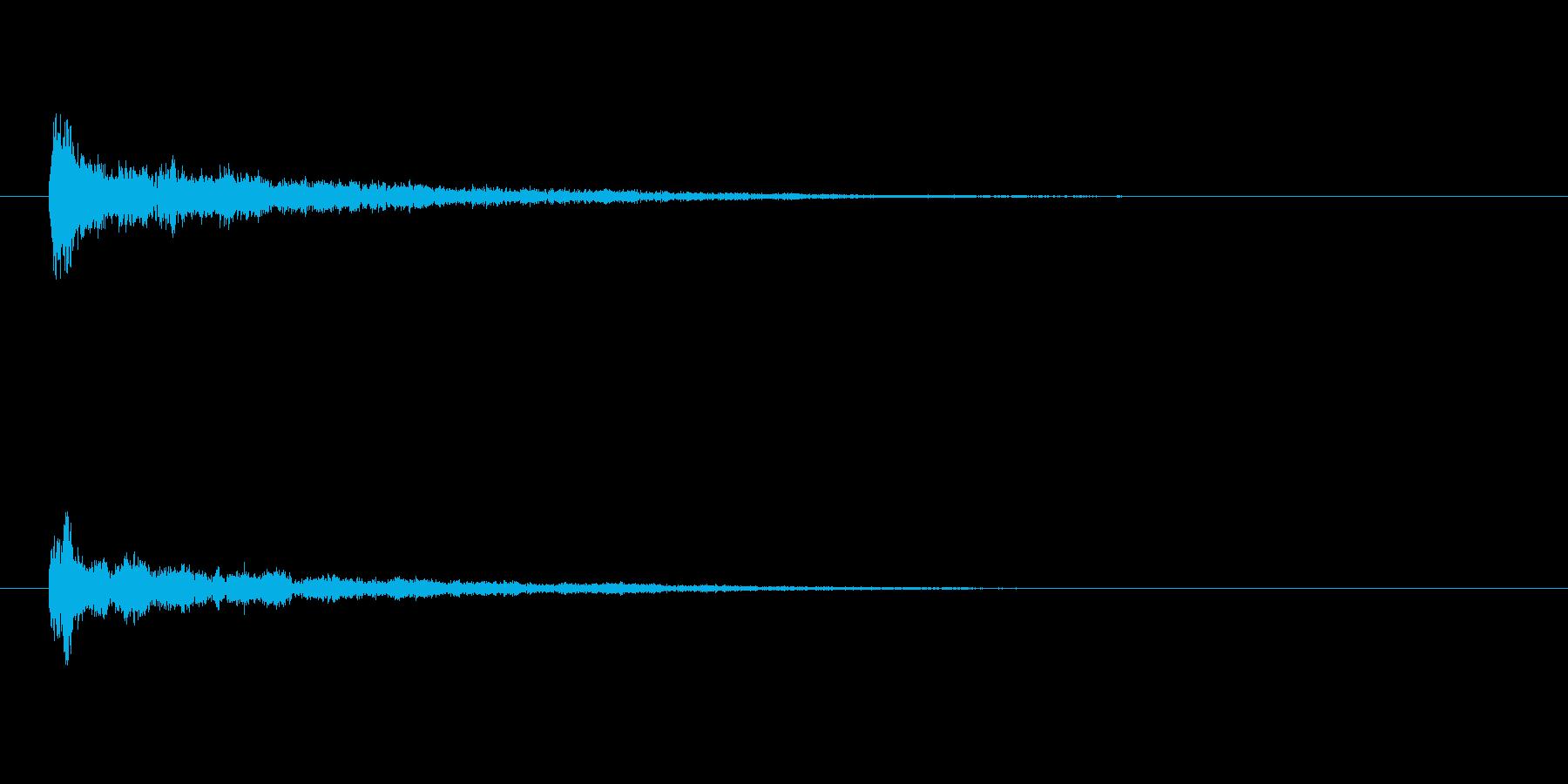 キーン(決定音)の再生済みの波形