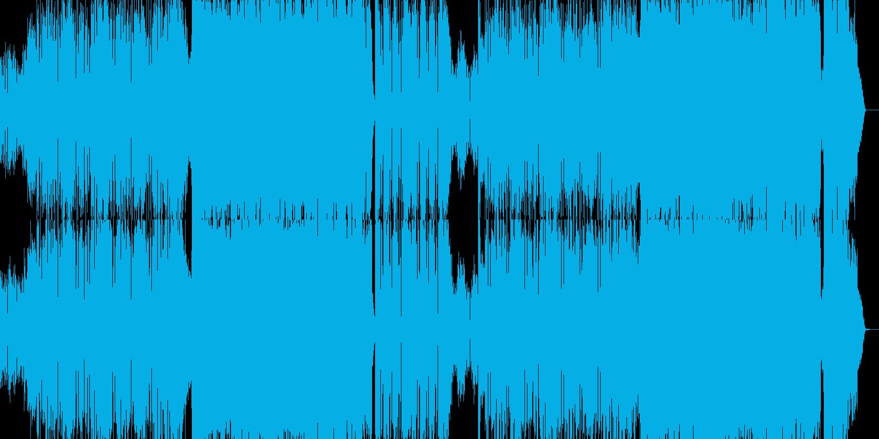 ギターロック メタル デスボイスの再生済みの波形
