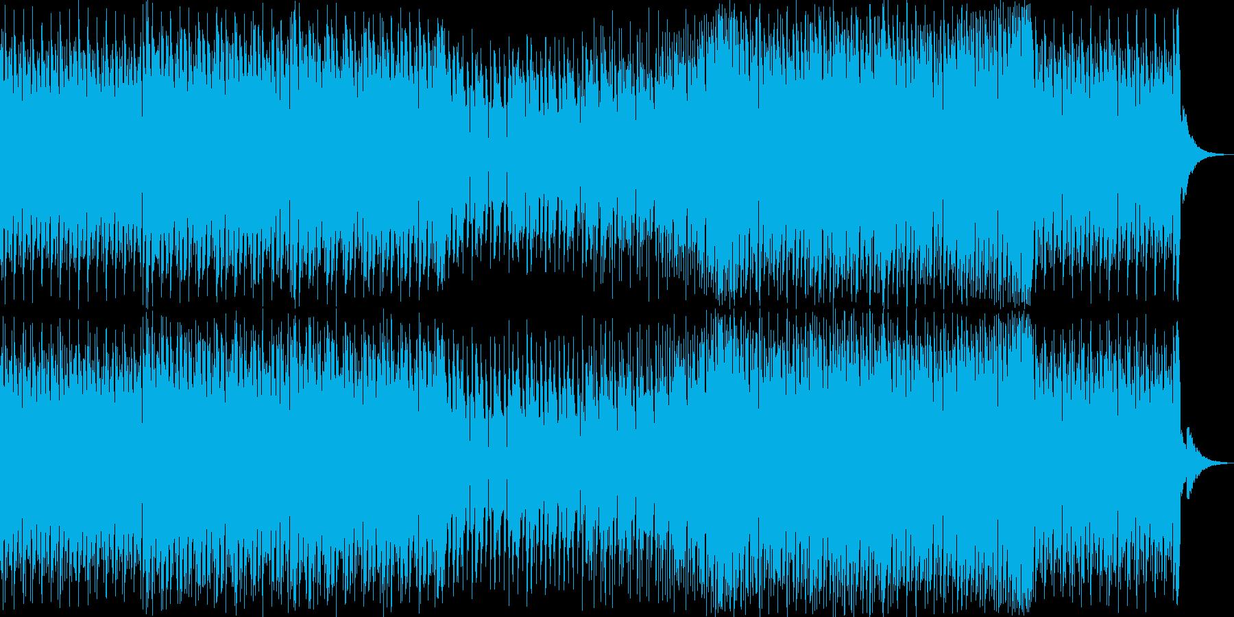 緊迫感のあるトランス風楽曲の再生済みの波形