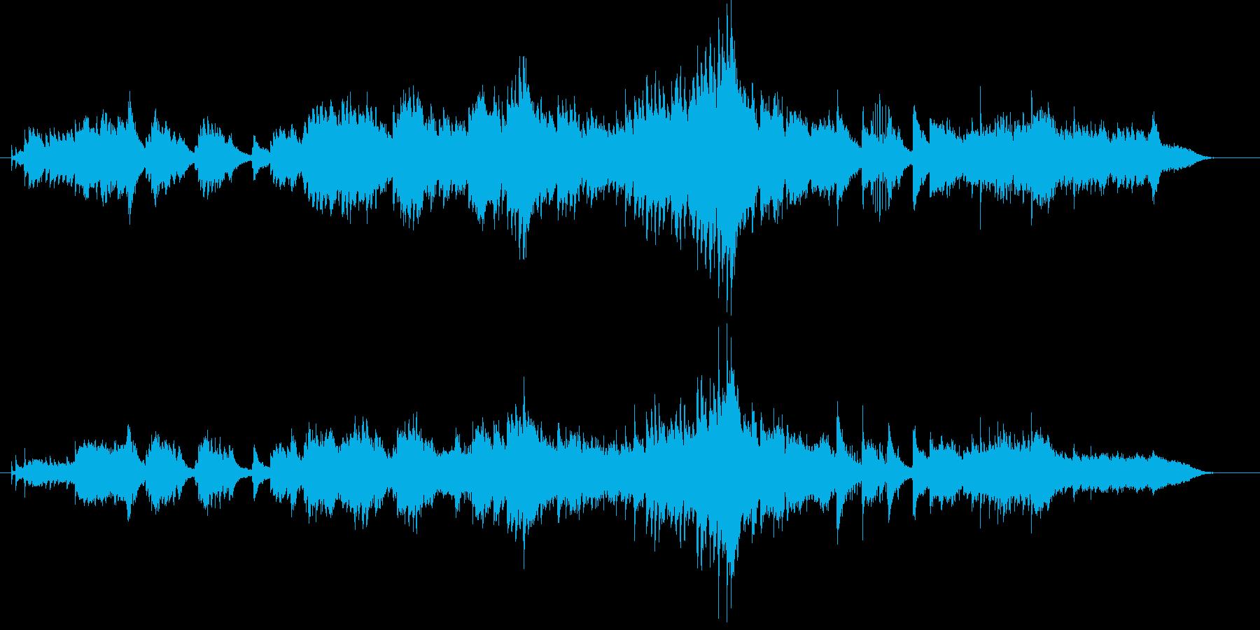 憂いのある短めのピアノバラードの再生済みの波形