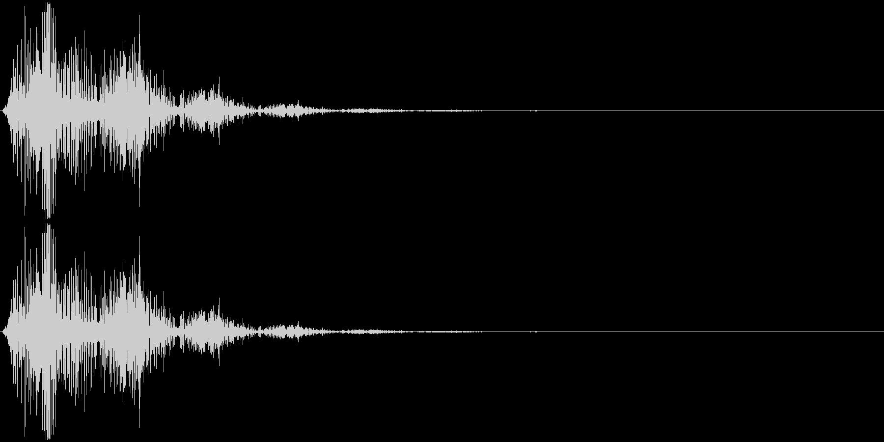 飛び跳ねるイメージの擬音です。非リアル…の未再生の波形