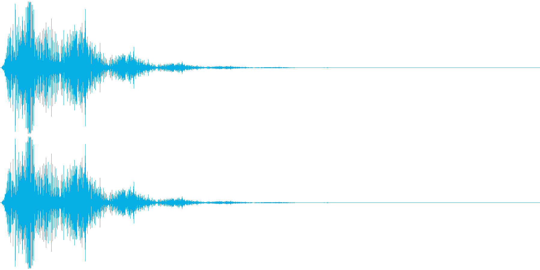 飛び跳ねるイメージの擬音です。非リアル…の再生済みの波形