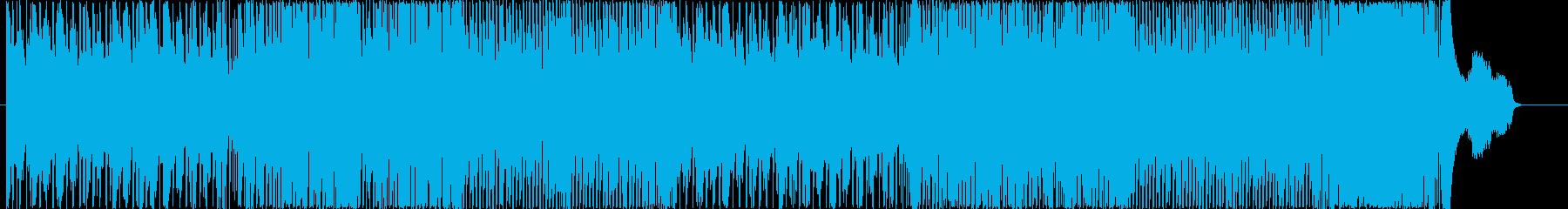 和楽器を使った激しいハイテンションの曲の再生済みの波形