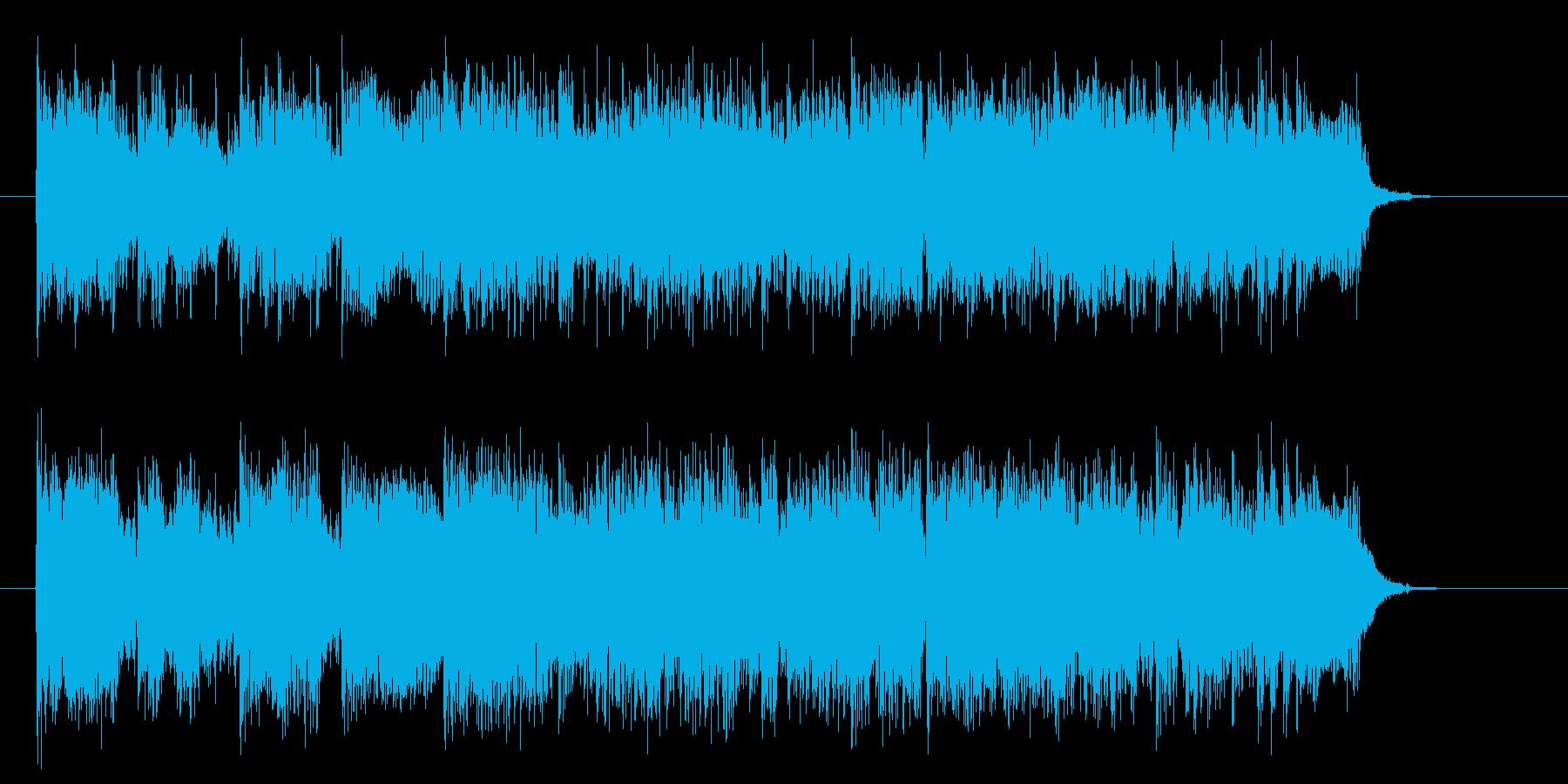 疾走感と激しいシンセギターサウンドの再生済みの波形