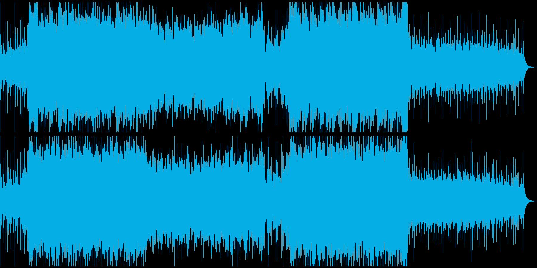 壮大で重厚な映画のPVの様な曲の再生済みの波形