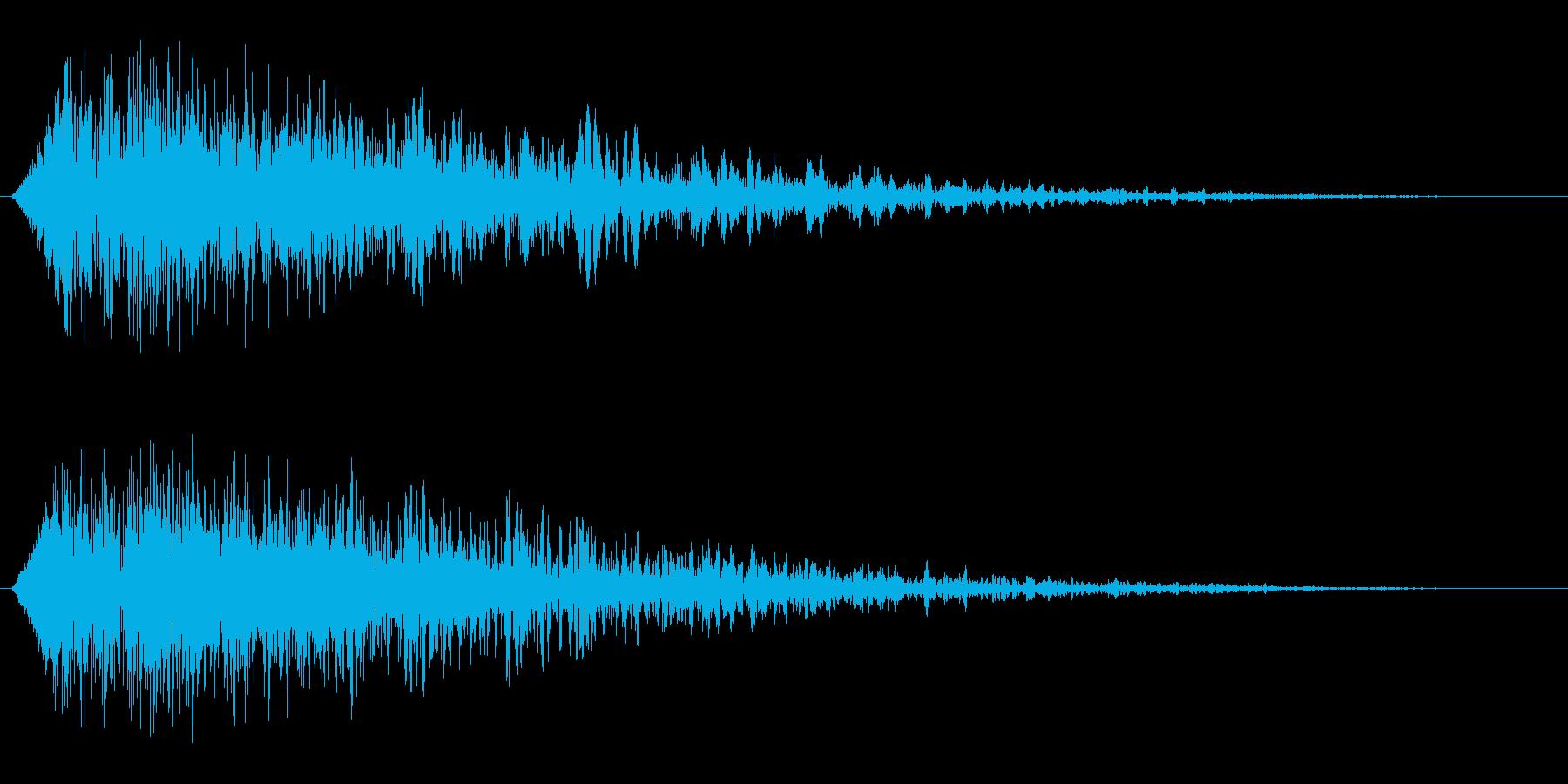 チュッガ〜ン(発射音)の再生済みの波形