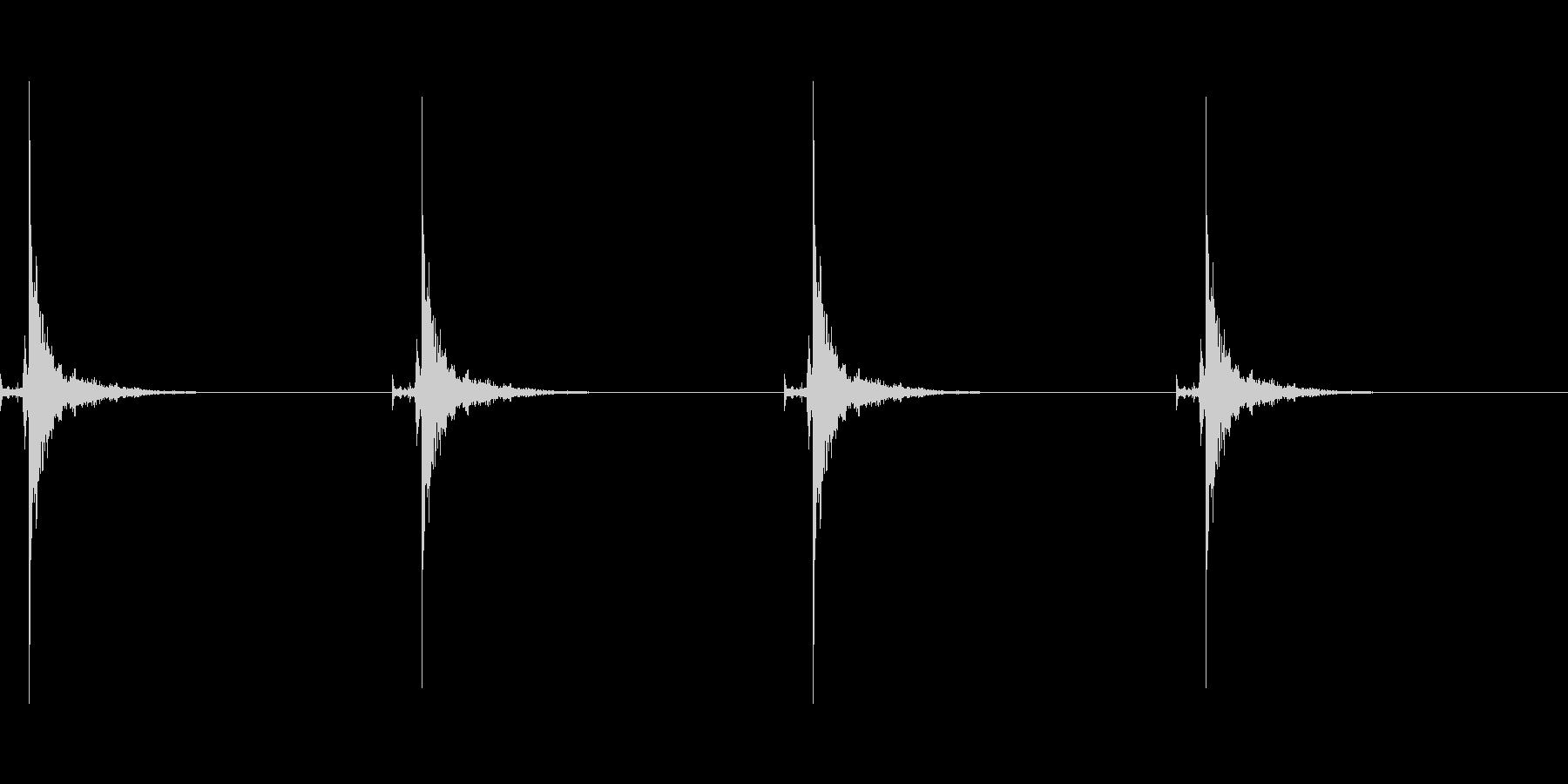 時計の秒針の音 2 大きな時計の未再生の波形