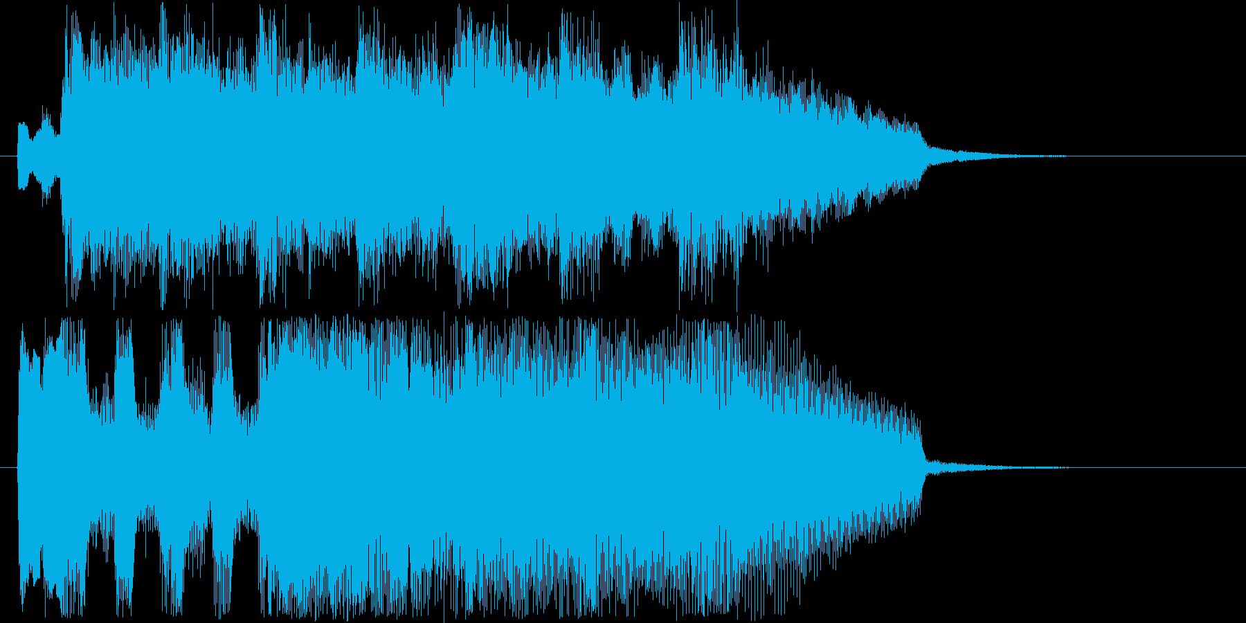 軽快なテンポのテクノの再生済みの波形